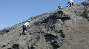 climbing the burren