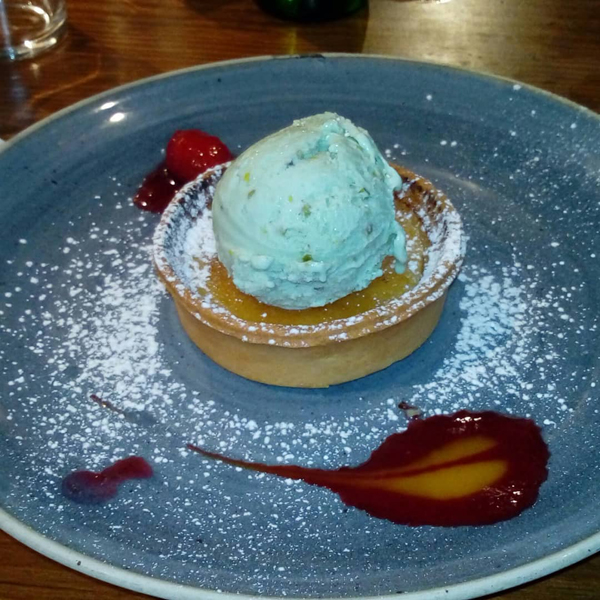 Lemon Tart at EJ Kings Clifden