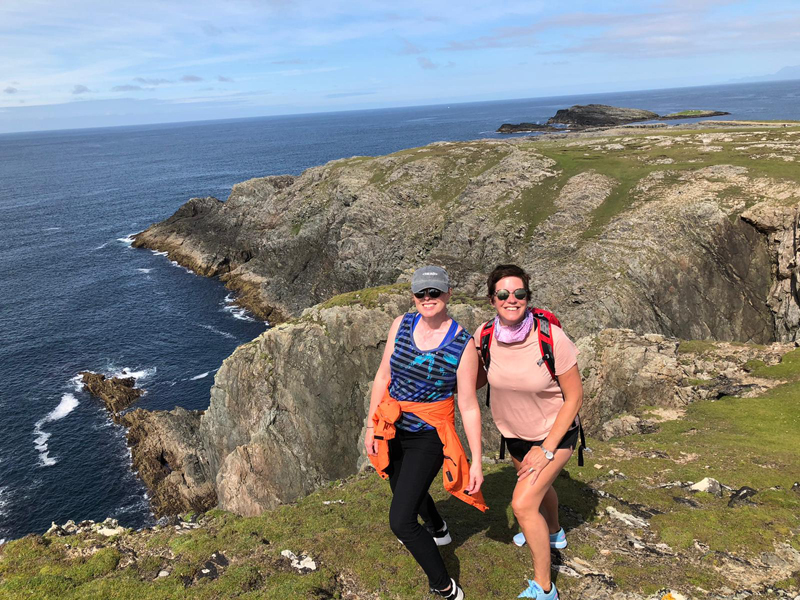 Roz and Linda on Inisbofin